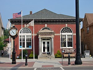 Egg Harbor City, New Jersey - Egg Harbor Commercial Bank, now the local library