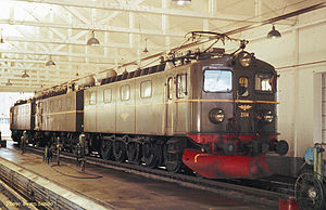 NSB El 12 - El 12.2114 at the shed in Narvik in 1970