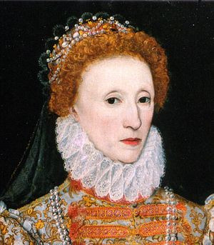 Ruff (clothing) - Ruff of c. 1575. Detail from the Darnley Portrait of Elizabeth