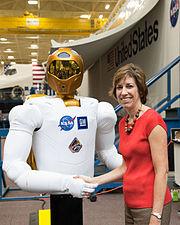 Ellen Ochoa with Robonaut2