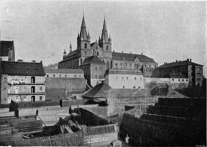 1945 Bombing of Prague - Emmaus Monastery in the late 19th century