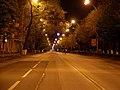 Empty Bol'shaya Sadovaya Street at night, Rostov-on-Don, Russia.jpg