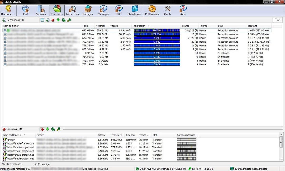 Emule wikip dia for Porte emule 0 50a