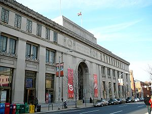 Enoch Pratt Free Library - Enoch Pratt Free Library, Central Library building, Cathedral Street main entrance.