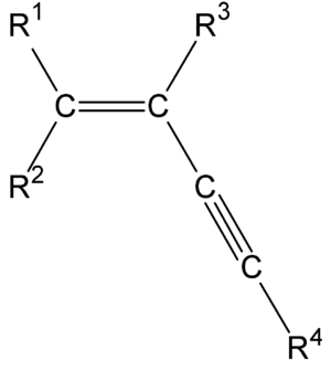 Enyne - The structure of a typical enyne group.