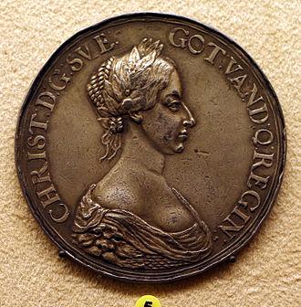 1650 in Sweden - Erich parise, medaglia dell'incoronazione di cristina di svezia, 1650