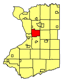 Location of West Seneca in Erie County