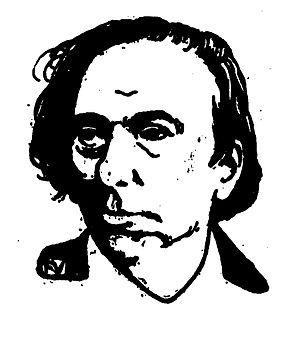 Portrait of French writer Ernest Hello (1828-1...