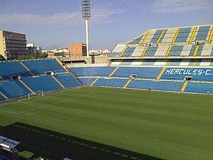 Estadio José Rico Pérez - Image: Estadio José Rico Pérez en obras