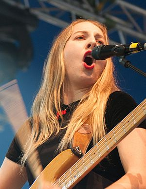Haim (band) - Este Haim at Way Out West 2013 in Gothenburg, Sweden