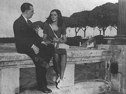 Jorge Luis Borges with Estela Canto in 1945