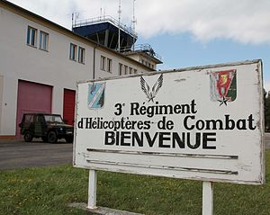 Base Lieutenant Étienne Mantoux - 3e RHC base welcome sign, 2011
