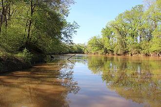Etowah River - Etowah River in Bartow County, Georgia