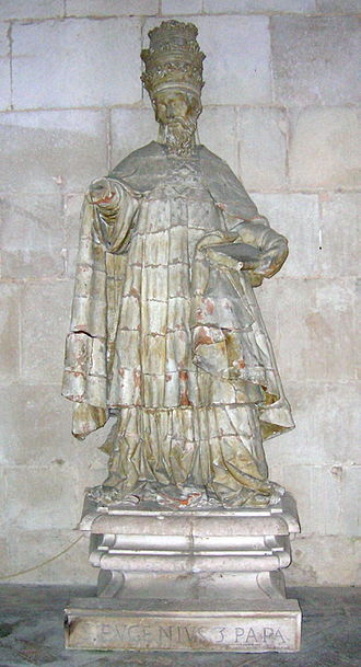 Council of Reims (1148) - A Portuguese statue of Eugene III, who called the council