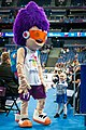 EuroBasket 2017 - Mascot Slam Dunk and a young fan 2.jpg