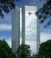 The European Central Bank in Frankfurt governs Eurozone monetary policy.