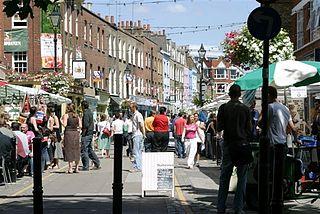 Street in the London Borough of Islington