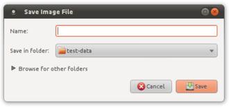 "Disclosure widget - Disclosure widget (""Browse for..."") in the GTK+ file dialog."