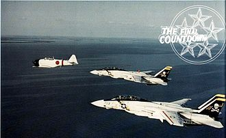 The Final Countdown (film) - Tomcats from VF-84 with a T-6 converted to resemble a Zero.