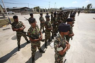 East Timor - F-FDTL soldiers standing in formation