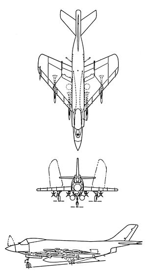 3-side view of an F3H-2M.