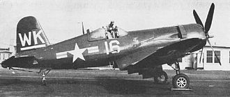 VMFA(AW)-224 - A newly delivered Vought F4U-5 Corsair at MCAS Cherry Point in 1948