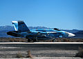 FA-18C Hornet of the NSAWC at NAS Fallon in March 2015.JPG