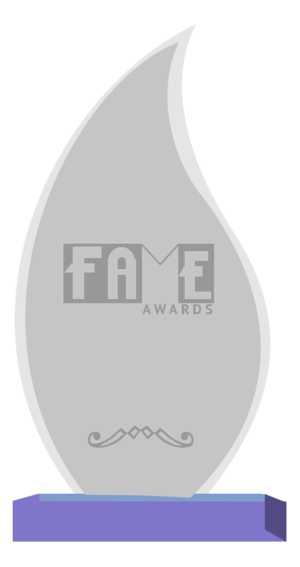 "Fans of Adult Media and Entertainment Award - A ""F.A.M.E. Awards"" trophy"