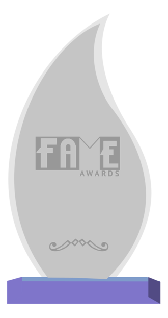 """Fans of Adult Media and Entertainment Award - A """"F.A.M.E. Awards"""" trophy"""