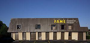Muscle Shoals, Alabama - FAME Recording Studios in Muscle Shoals (photograph by Carol M. Highsmith)