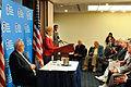 FEMA - 44357 - NOAA Administrator Jane Lubchenco at the Podium at the NOAA hurricane outlook press conference.jpg