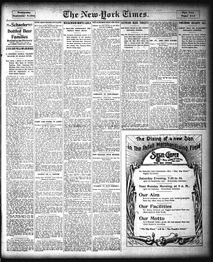 F. L. Wandell Estate and Ward Factory Site - New York Times Article on 1896 Murder/Suicide