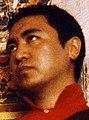 Face detail, Lama Pema Wangyal Rinpoche, Nyingmapa lama, with Shri Mahakala thangka, Seattle, Washington, USA, in 1976 (cropped).jpg