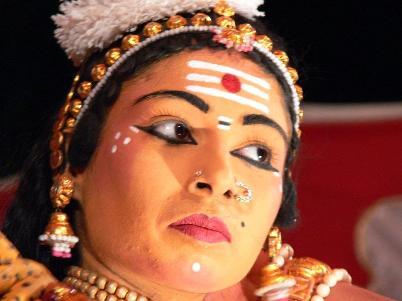 Face of Parvati dancer
