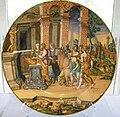 Faenza maiolica, piatto con il padre di psiche che consulta l'oracolo, 1550-70 circa.JPG