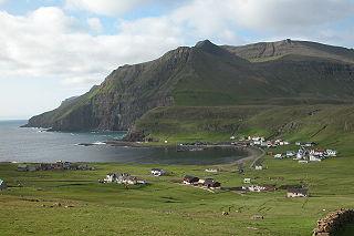 Gluggarnir mountain onSuðuroy,Faroe Islands