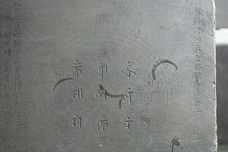 Yunju Temple - Sanskrit Mantra, part of the Liao-Jin Fangshan Stone Sutra collection