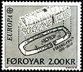Faroe stamp 065 europe (viking house).jpg
