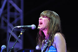 Feist performing at Coachella, 2012
