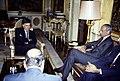 Felipe González recibe al ministro de Asuntos Exteriores de Marruecos. Pool Moncloa. 2 de julio de 1990.jpeg