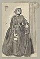 Felix Timmermans - Vrouwelijke personage, staand. - water coloured - Royal Library of Belgium - F-2011-358.jpg