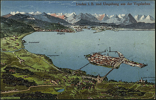 Felle Lindau und Umgebung aus der Vogelschau