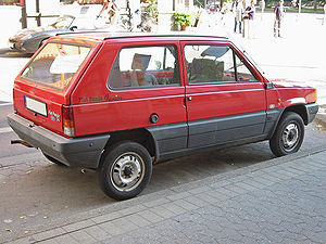 Fiat Panda - Rear of pre facelift Fiat Panda