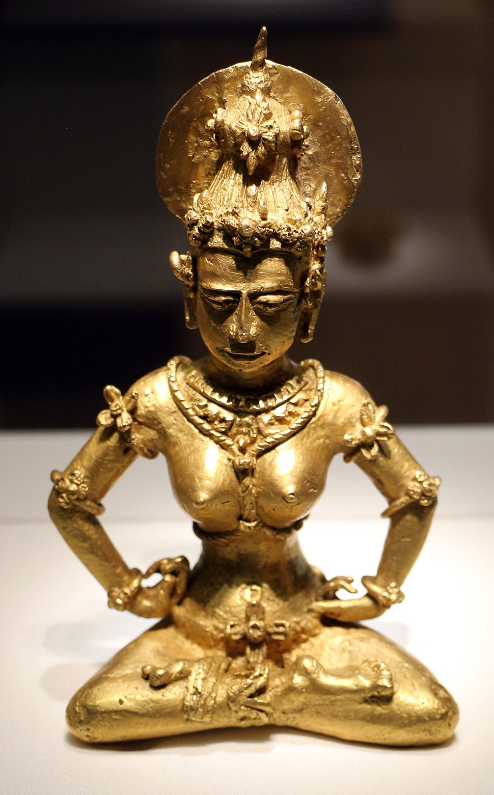 Filippine, provincia di agusan, immagine hindu, statuetta in oro massiccio, xiii secolo