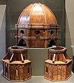 Filippo brunelleschi (attr.), modello architettonico della cupola e due tribune, 1420-36.JPG