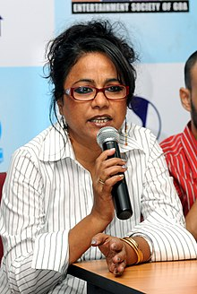 Film Actress Seema Biswas, at the Press conference on Indian Premier Cinema 'Red Alert' during the 40th International Film Festival (IFFI-2009), at Panaji, Goa on November 28, 2009.jpg