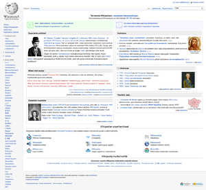 The main page of the Finnish Wikipedia