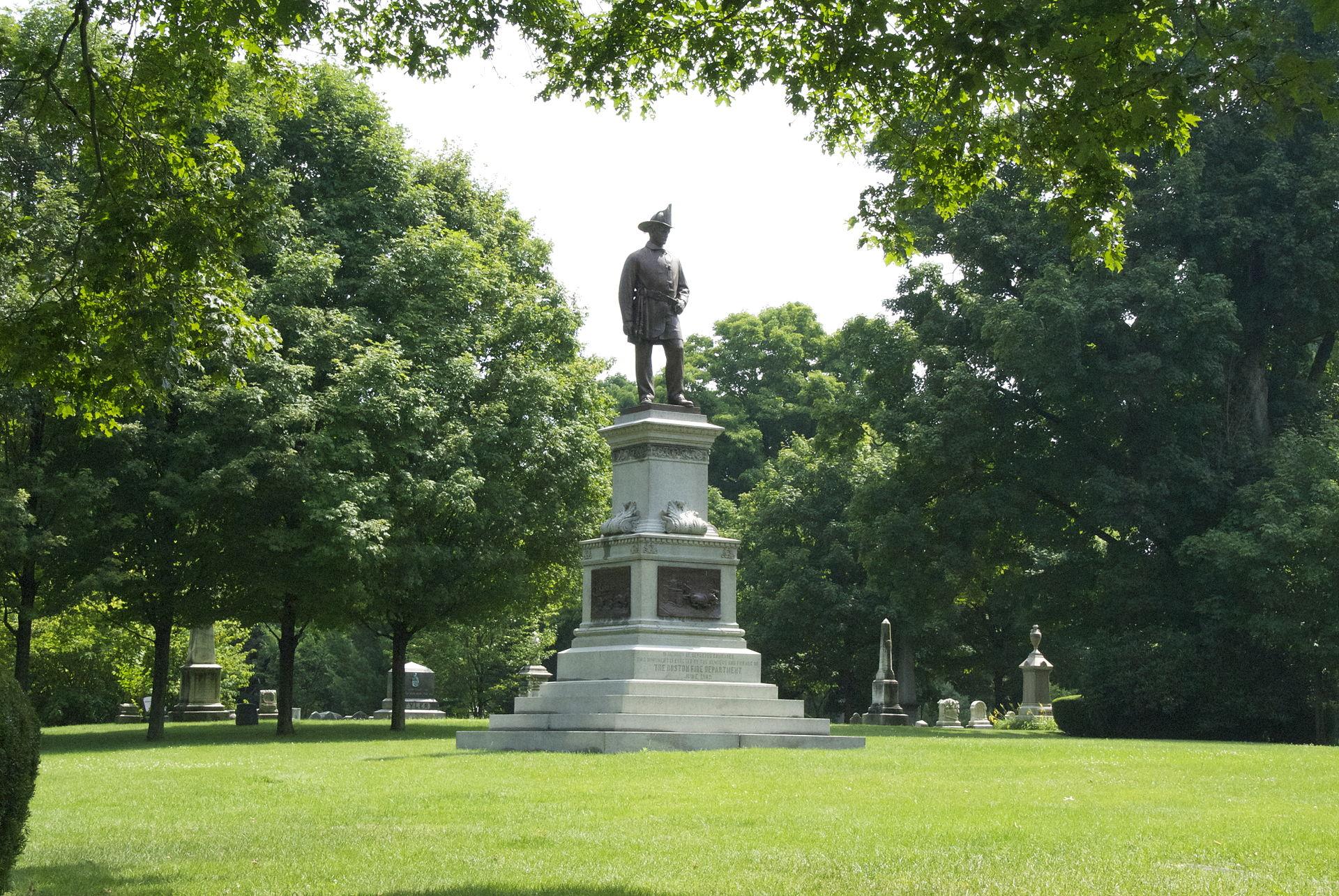 Firemen's Monument, Boston by John A Wilson- far.jpg