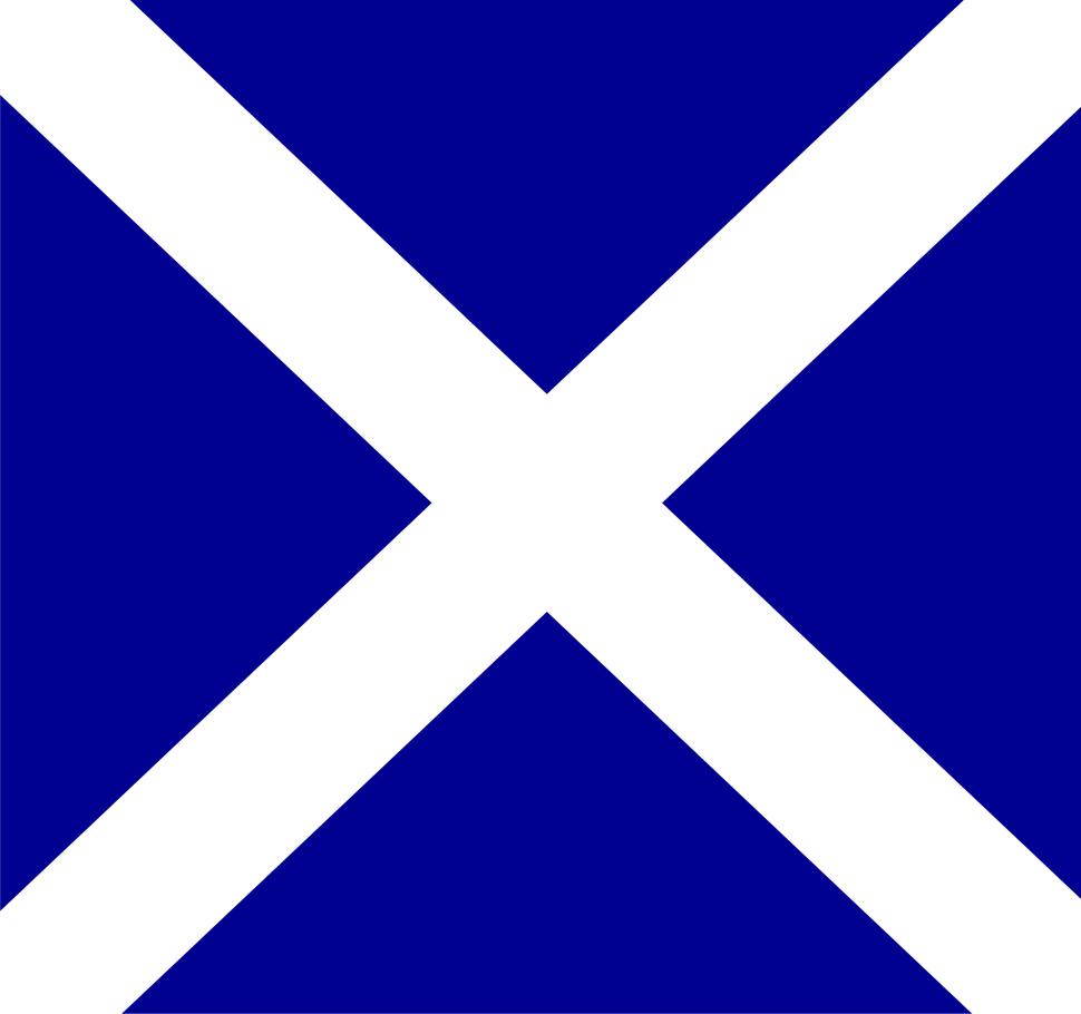 Flag of Scotland (1-1)