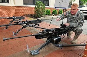 Heavy machine gun - US .50 caliber heavy machine gun developments – Browning M2, Browning M2E2 Quick Change Barrel, XM806 Lightweight .50 Caliber Machine Gun (LW50)